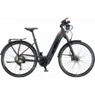 KTM MACINA SPORT ABS black matt (black + orange glossy) EASY ENTRY Unisex Elektromos Trekking Kerékpár 2021