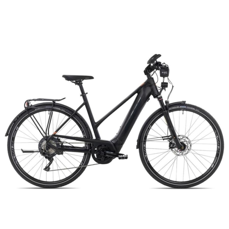 KTM MACINA SPORT ABS black matt (black + orange glossy) TRAPÉZ Női Elektromos Trekking Kerékpár 2021